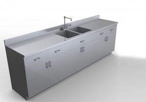 Mopec base cabinet with sink